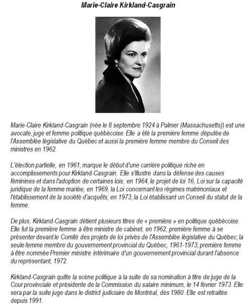 Portrait Marie-Claire Kirkland-Casgrain