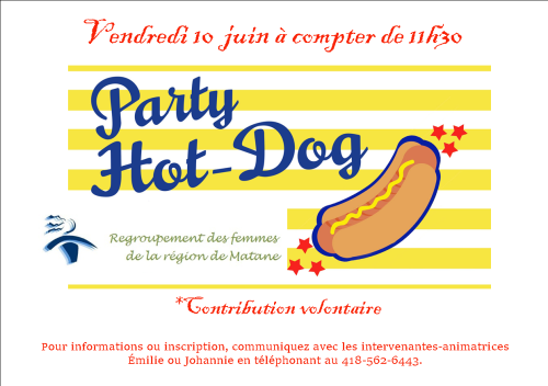 party hot dog 10 juin pub 2