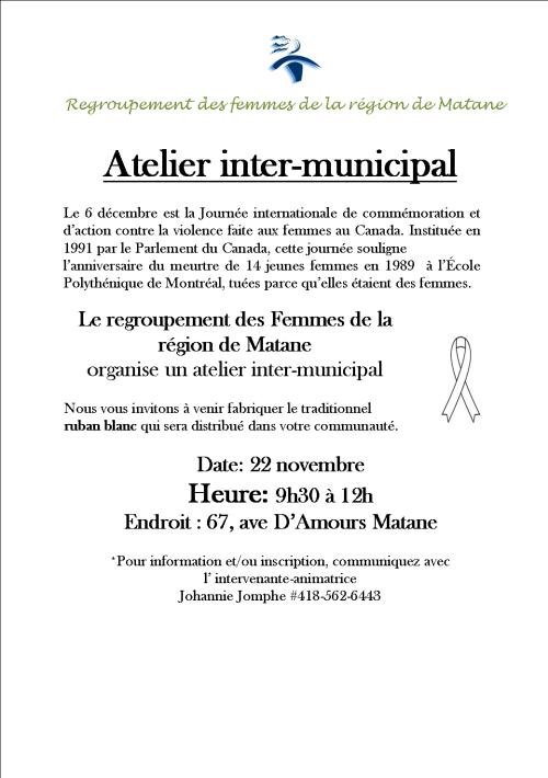 Atelier inter-municipal
